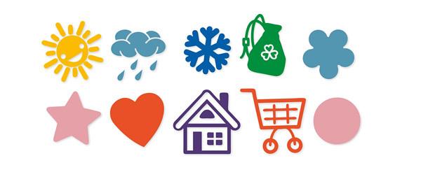טבלת סימנים לשימוש בקניות לילדים